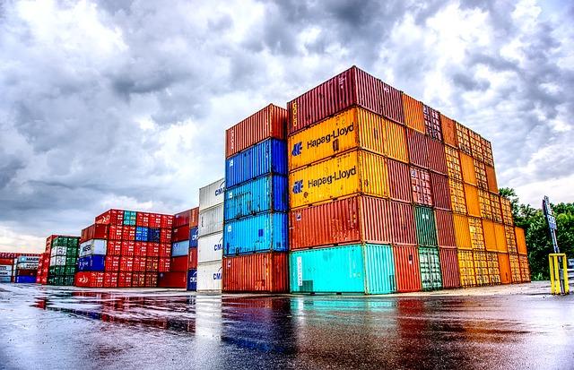 kontejnery na ploše doprava